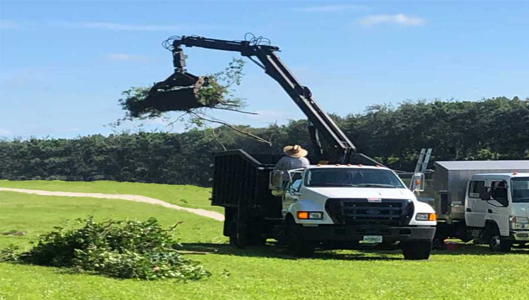 golf debris removal truck.