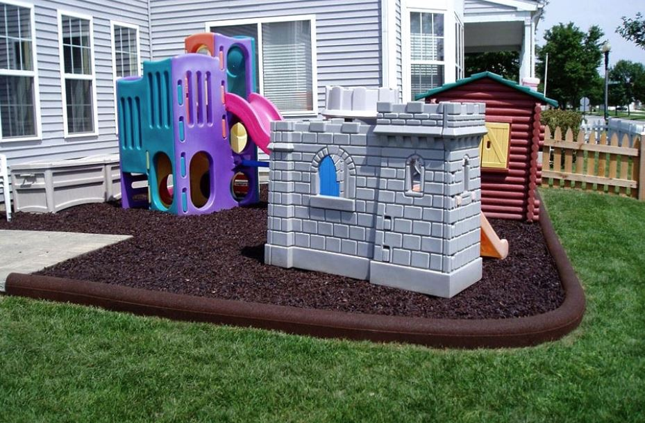 Artificial Grass on playground equipment